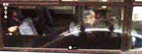 バスの窓に映った霊魂 ストリートビュー